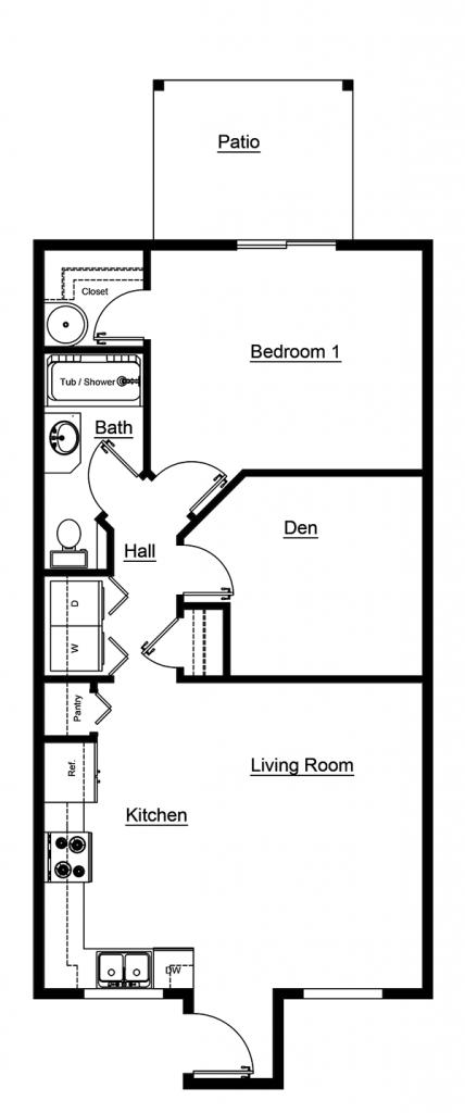 1 Bedroom Floor Plan