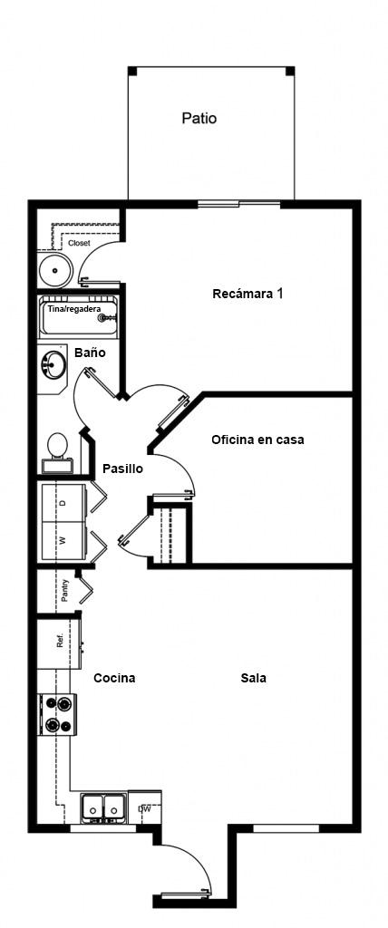 Planos de Apartamento de 1 recámara
